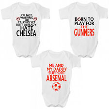 Funny Arsenal FC Football Baby Grow - Gunners Premier League Babies Clothing