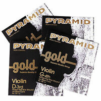 PYRAMID Gold Violin Strings 4/4 - 1 Satz Violinensaiten - No. 108100