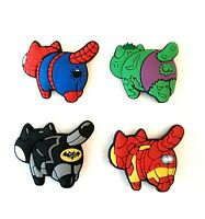4pcs Superhero Cats Shoe Charms for Crocs Clog Shoes Bracelets Gift