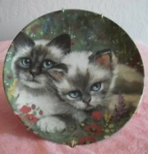 "Collectable Cat Plate Cats Collection ""Country Cat"" With Plate Hanger"