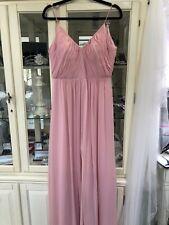 Dessy Pink prom bridesmaid dress  UK8 RRP £225 20130