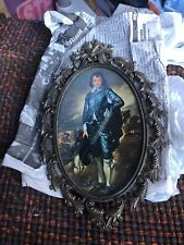 Vintage Victorian Male Child Glass Oval Metal Photo Metal Frame
