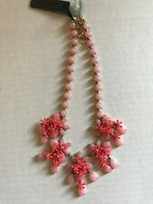 JCrew Floral Cascade Necklace F6439 $138 Pink