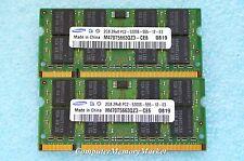 4GB Kit 2x 2GB PC2-5300S DDR2 667 / 200 Pin 2Rx8 By SAMSUNG # M470T5663QZ3-CE6