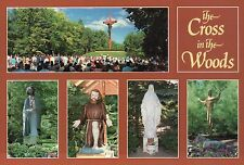 Cross in the Woods Catholic Shrine Indian River Michigan, Jesus, MI --- Postcard