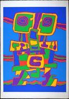 Jacques Soisson, Vintage Serigraph, Superb Abstract, 1970's VTG Silkscreen #150