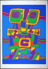 Jacques Soisson Vintage Serigraph Superb Abstract 1970's Large Silkscreen 60/150