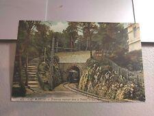 Postcard: France  Cap Martin Tramway rentrant dans le Tunnel   Un-posted