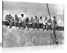 Lunch Atop A New York Skyscraper Canvas Wall Art Picture Print