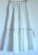 Vintage Victorian Cotton Petticoat Half Slip with embroidery & ribbon slits