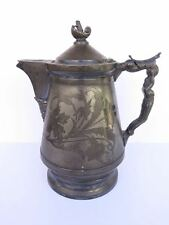 Antique Silver-Plate Coffee Pitcher Hall Elton Co. Wallingford, Ct.Pre 1890