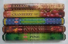 Hem Christmas Incense Set #2: 100 Sticks: Balsam Cranberry Pine Frank & Myrrh.