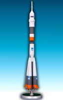 "Handmade ""Soyuz"" launch vehicle 1/144 metal scale model"