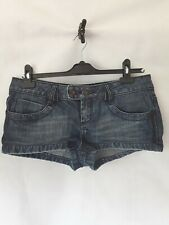 Size 12 Topshop Denim Hipster Hotpants Shorts