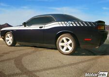 2011 2012 2013 2014 Dodge Challenger Side Split Stripes Dual Strobe Decals  r/t