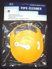 Manual & Hand Held Drain Cleaner Plastic Drum 20' Cable 1-1/4 Pipe