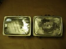 80-91 Ford E-150 250 350 Van Front Headlight Set Left & Right Side Halogen