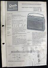 Historische Radio-Anleitung~Graetz Superpage 1336~ Kofferradio 1964 orig.Manual