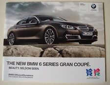 BMW . 6 Series . The New BMW 6 Series Gran Coupe . 2011 Sales Leaflet