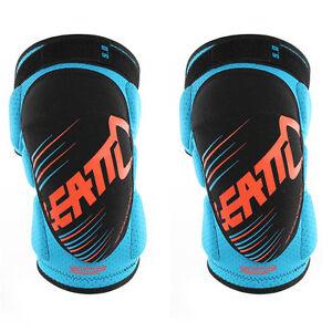 LEATT 3DF 5.0 SOFT KNEE GUARDS BLUE ORANGE MOTOCROSS MX ENDURO BMX MTB CHEAP NEW