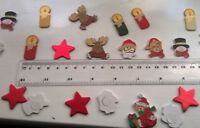 Wooden embellishments, stickers, craft, Christmas