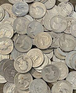 Washington Quarters, 90% Silver 1932 - 1964, Circulated, Choose How Many!