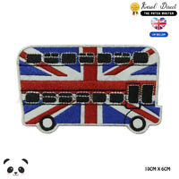 Bus London Bus UK Embroidered Iron On Sew On Patch Badge