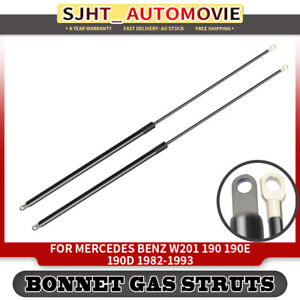 2x Bonnet Hood Gas Struts fit Mercedes Benz 190 190D 190E W201 1982-1993 Sedan