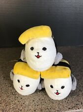 Sushi Plush Seals Set Of 3 Connected Stuffed Cute 8""
