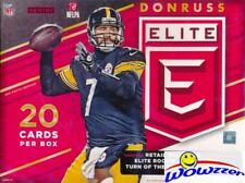 2016 Donruss Elite Football EXCLUSIVE Factory Sealed Hanger Box-AUTOGRAPH/MEM
