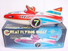 """China Mf-742 """"Great Flying Boat"""" Space Ship 32cm! Friction Tin Toy Mib`80 Rare!"""