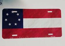 "CIVIL WAR ""1ST NATIONAL CONFEDERATE 7 STAR FLAG"" License Plate U.S. made"