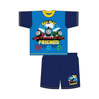 Boys Thomas the Tank Engine Pyjamas Toddler Shortie nightwear 12-18-24 2-3 3-4 Y