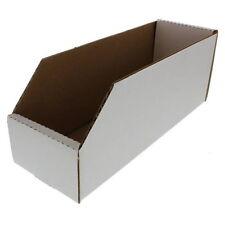"Pack of 10 Cardboard Bin Boxes 4"" wd x 9"" dp. x 4"" ht."