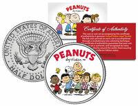"Peanuts ""Original Gang w/ Franklin"" JFK Half Dollar U.S. Coin *Licensed*"