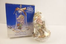 Precious Moments Glass Bell Ornament Dropping In For Christmas Ice Skater 1994