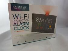 BNIB La Crosse Technology Wi-Fi Projection Alarm Clock & Accu Weather Forecast
