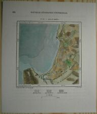 1884 Perron map HAIFA & ACRE (AKKO), PALESTINE (#148)
