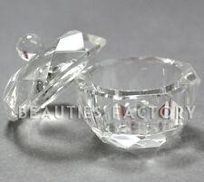 TRANSPARENT art ongles acrylique verre cristal Récipient Dappen Poudre Liquide #