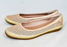 NWOB $85 CLARKS Danelly Adira Perforated Ballet Flats Wo's 7 Sand Tan Lthr