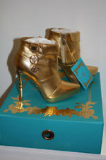 ANNA DELLO RUSSO Stiefelette Gr.38 UK5 H&M High-Heels Gold Leder Boots Stiefel