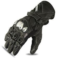 Motorbike Gloves Motorcycle Gloves Molded Knuckles Kevlar Black Leather 1684 XL