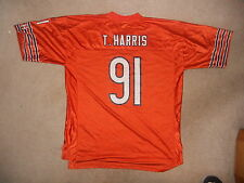 Chicago Bears Nfl Football Jersey #91 Tommie Harris Reebok Rare Orange Color Def