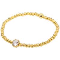 Gorjana Power Gemstone Howlite Charm Gold Bracelet 18920132GPKG