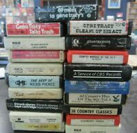 Lot of 19 8-track tapes 8 tracks Country bluegrass pop comedy western tape music