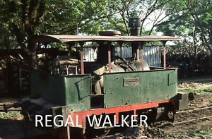 ORIGINAL 35MM PARAGUAY RAILWAY SLIDE RAIL CAR FCA SM AT TEBICUARY 1981