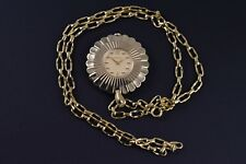 Vintage Caravelle Manual Wind Up Necklace Swiss Made Pendant Watch Runs Well