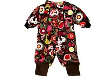Toddler Girls HANNA ANDERSSON Size 80 /US 2 Quilted Snowsuit Winter Floral