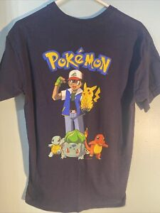 Vintage 1999 Nintendo Pokemon Pikachu Shirt  Bulbasaur Charmander Squirtle Youth