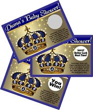 LITTLE PRINCE CROWN SCRATCH OFF OFFS PARTY GAME GAMES CARDS BABY SHOWER FAVORS